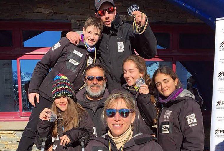 Cinco medallas para el Equipo de Competición de Esquí Alpino Adaptado de la Fundación También en la primera prueba de Copa de España.