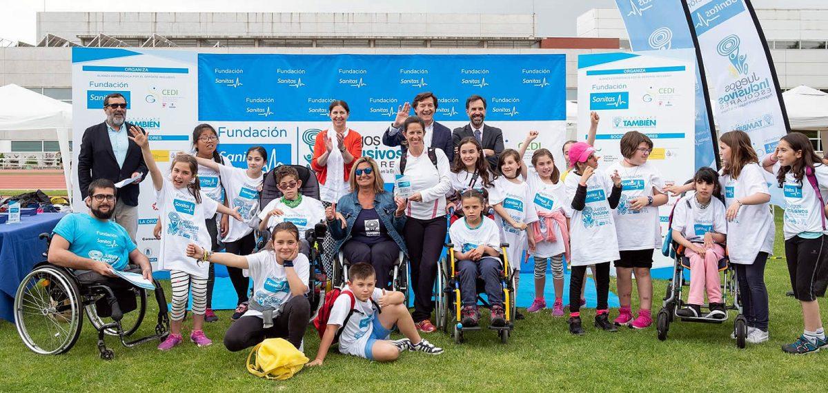 Entrega de premios en los 6º Juegos Inclusivos Escolares