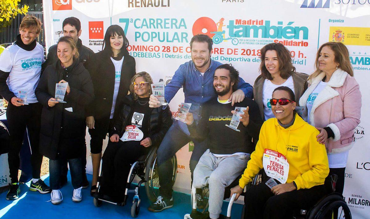 Entrega de trofeos y medallas de la 7ª carrera popular Madrid También Solidario