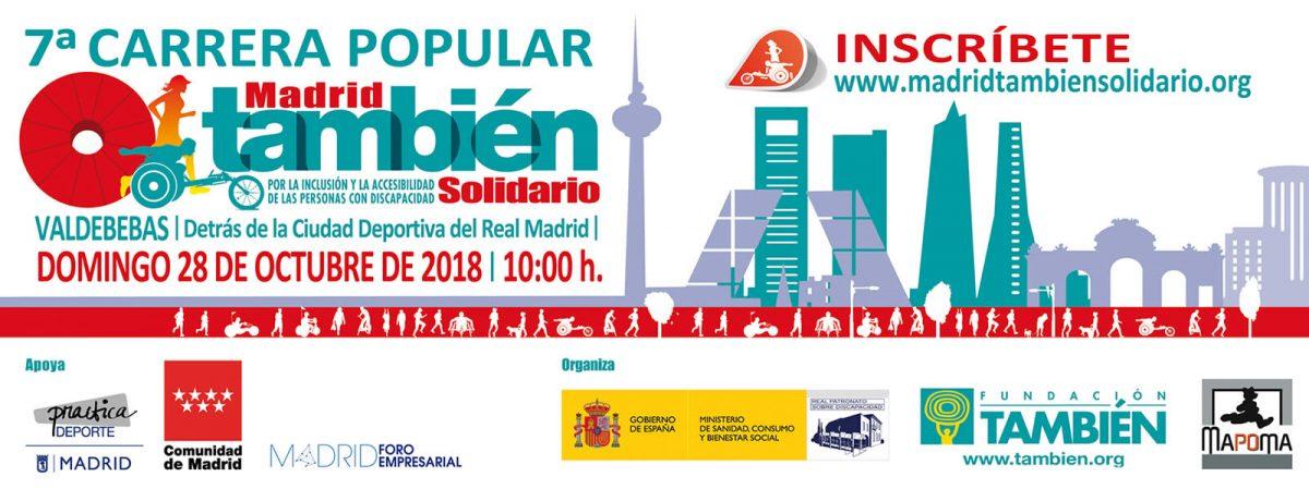 Cartel de la 7ª Carrera Popular Madrid También Solidario