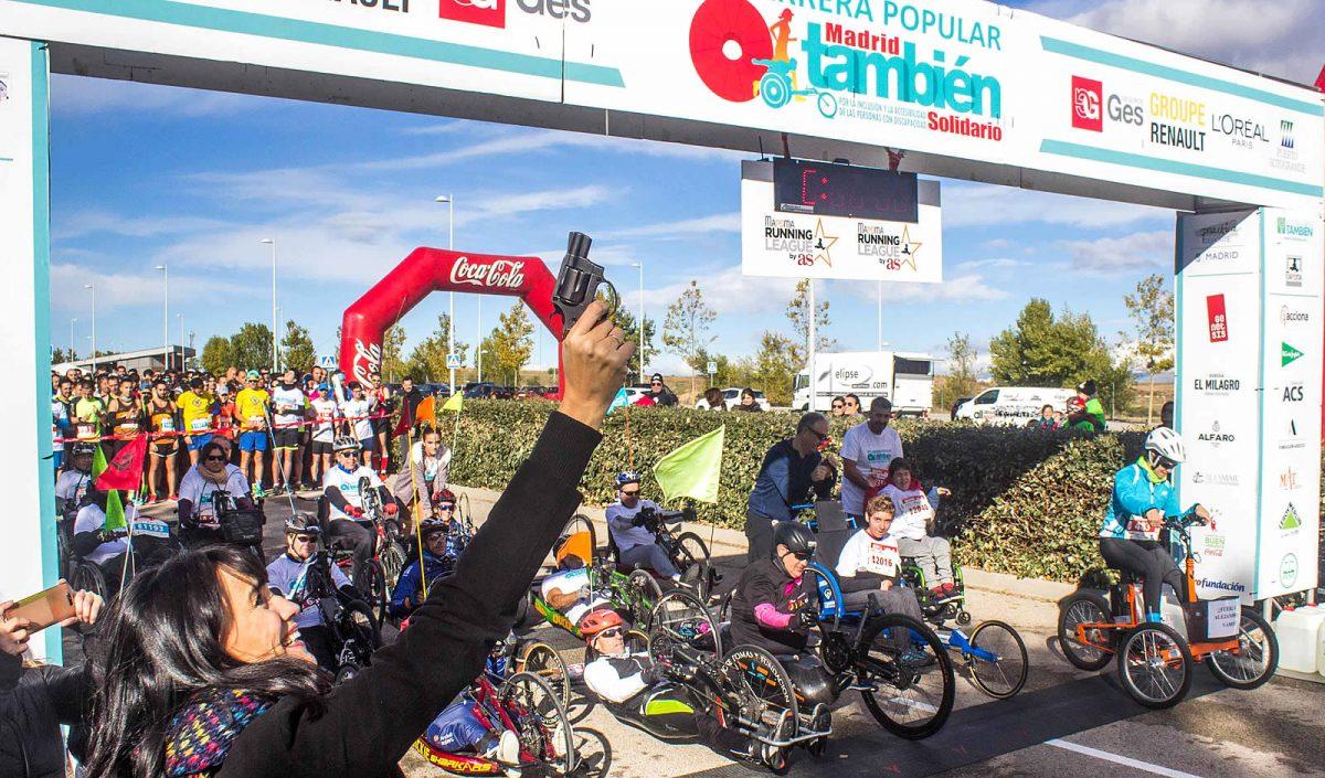 Irene Villa da el pistoletazo de salida a una edición de la Carrera Popular Madrid También Solidario.