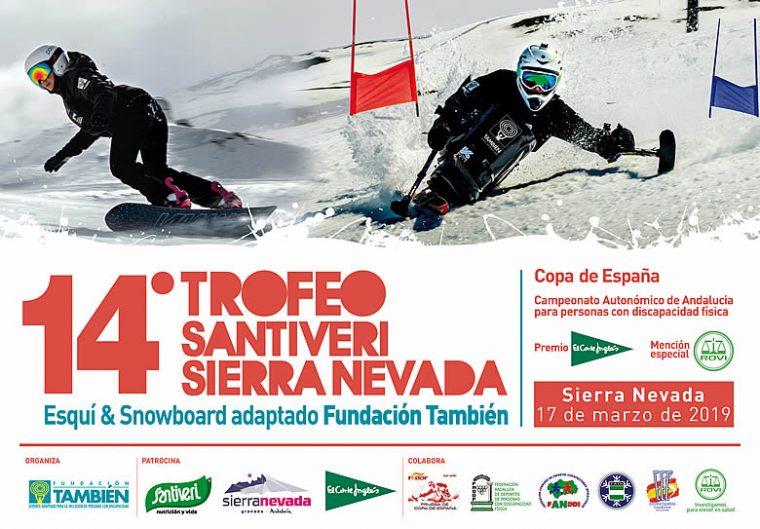 Cartel del 14º Trofeo Santiveri Sierra Nevada, Copa de España, Campeonato de Andalucía, Premio El Corte Inglés y mención especial Rovi.