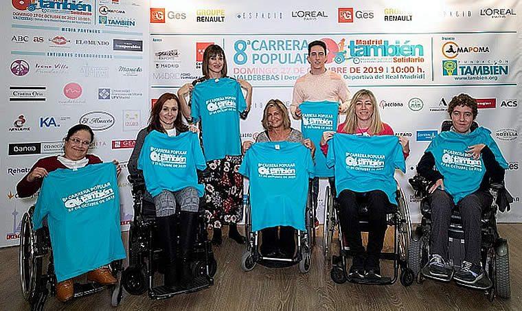 Los deportistas muestran su apoyo a la nueva edición de la Carrera Popular Madrid También Solidario