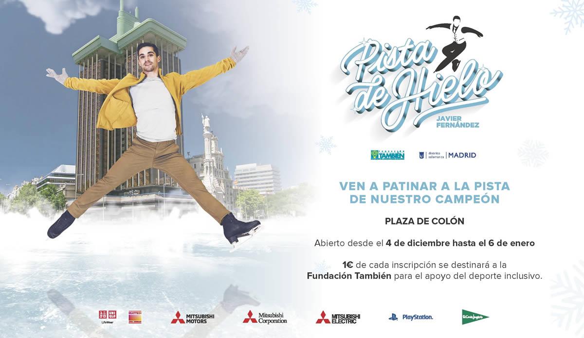 Jornada de patinaje inclusivo en la pista de hielo de la Plaza de Colón con Javier Fernández.