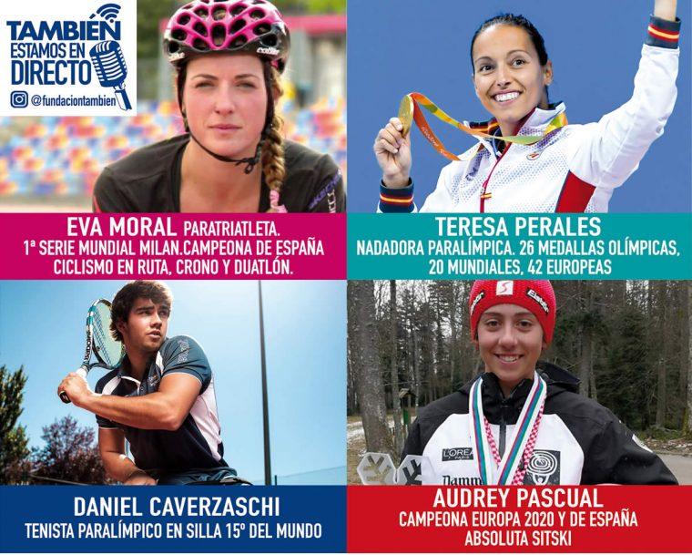 """""""También estamos en Directo"""", nuestro programa de #InstagramLive, en mayo con deportistas de la talla de Teresa Perales, Eva Moral, Daniel Caverzaschi y Audrey Pascual."""