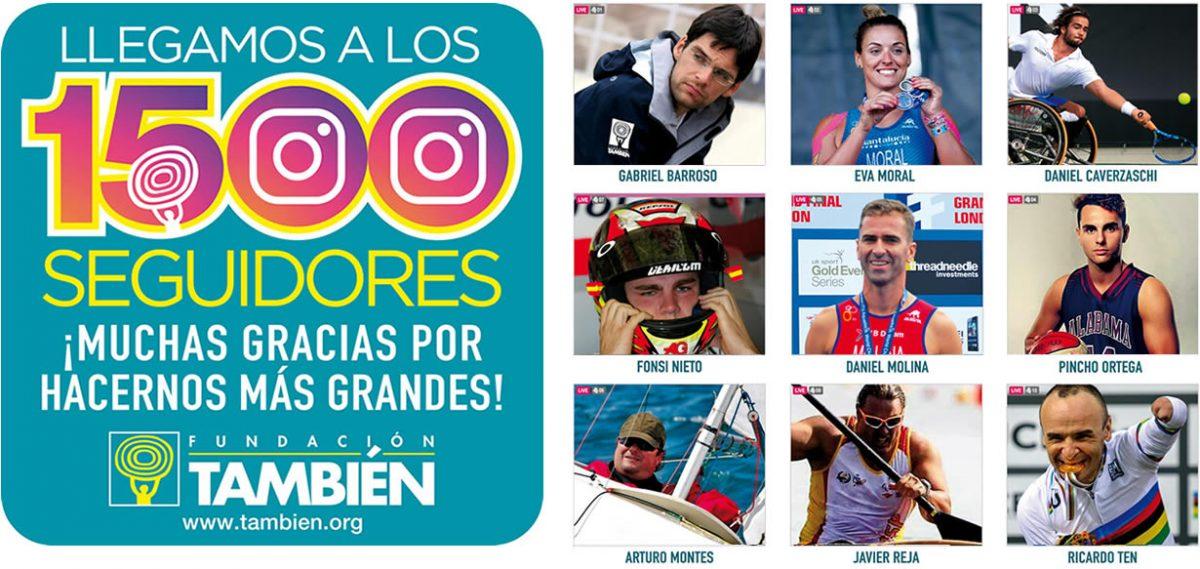 La Fundación También ha superado los 1.500 seguidores en Instagram.