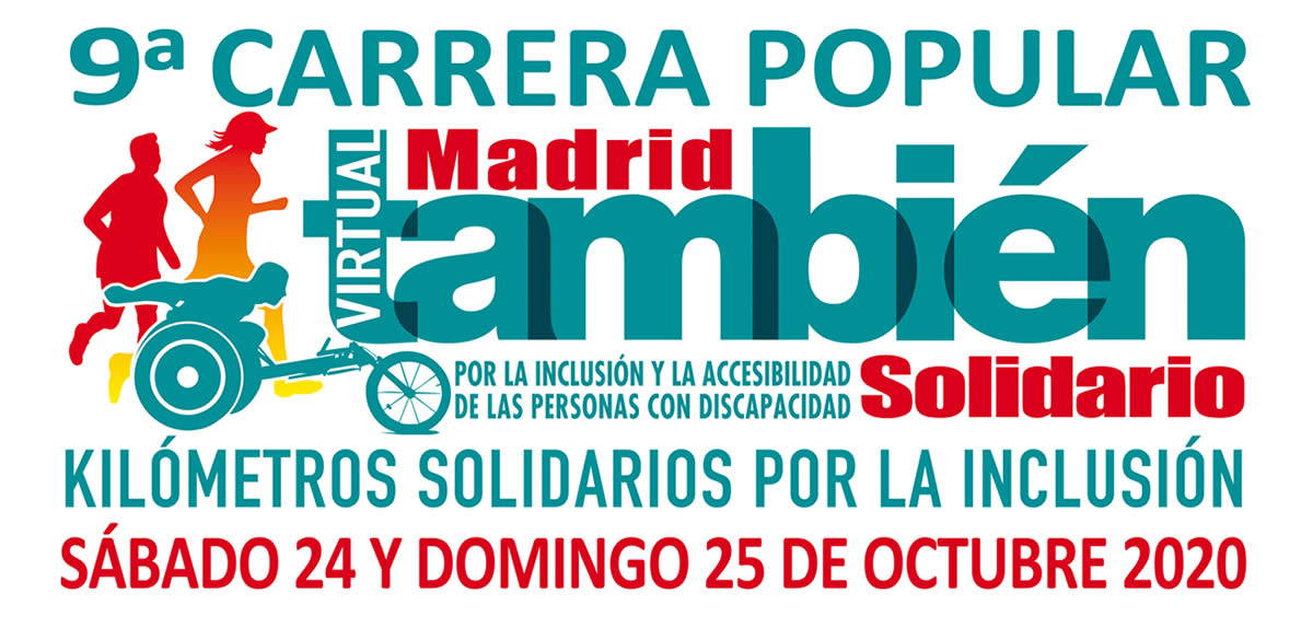 Cartel oficial de la 9ª Carrera Popular Madrid También Solidario 2020