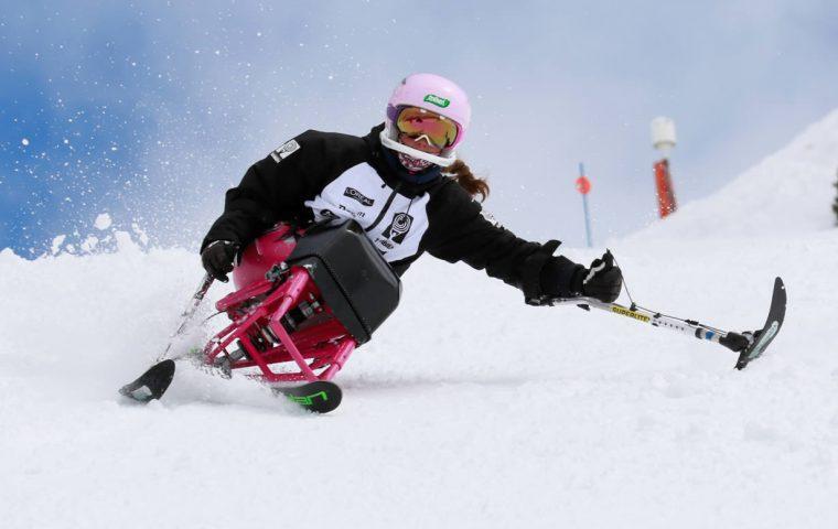 Integrantes del Equipo Fundación También Competición Esquí&Snowboard Adaptado, seleccionadas para el Programa de Tecnificación Nacional de Deportes de Invierno