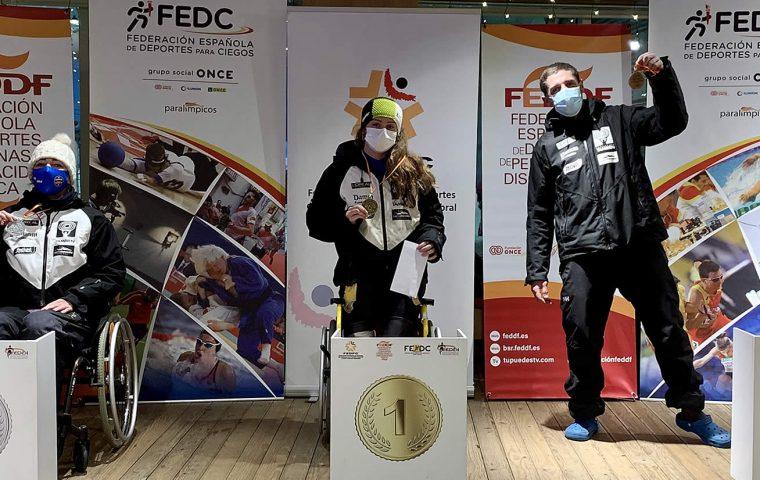 Podio Campeonato España de Esquí Adaptado 2020