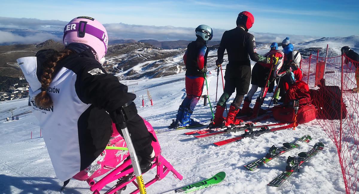Programa de Tecnificación de Esquí Adaptado y Snowboard en Sierra Nevada