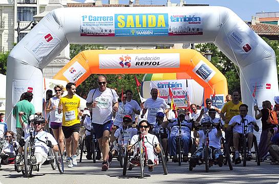 La inclusión tomó la calle. Rotundo éxito de la 1ª Carrera Serrano También Solidario.