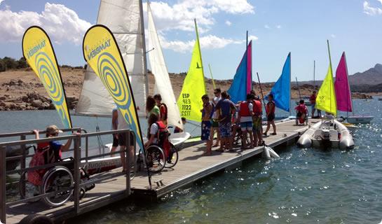 Primer campamento inclusivo de Vela Adaptada y Multideporte
