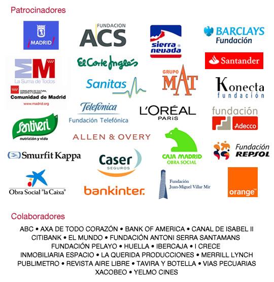 Muchas gracias a nuestros patrocinadores y colaboradores.